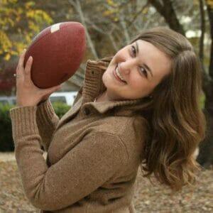 Move over football. Basketball has Emily Gatlin's heart bouncing.