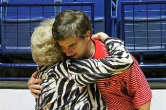 Eli Manning and Charlie Conerly's Widow, Perian Conerly. Photo courtesy: Seph Anderson / HottyToddy.com