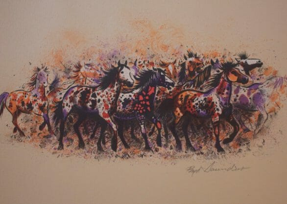 Etchings by artist, Boyd Saunders. Photo provided by Southside Gallery