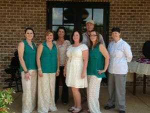 Suthern Amber Dickinson (center) and the team at Suthern Oasis Spa.