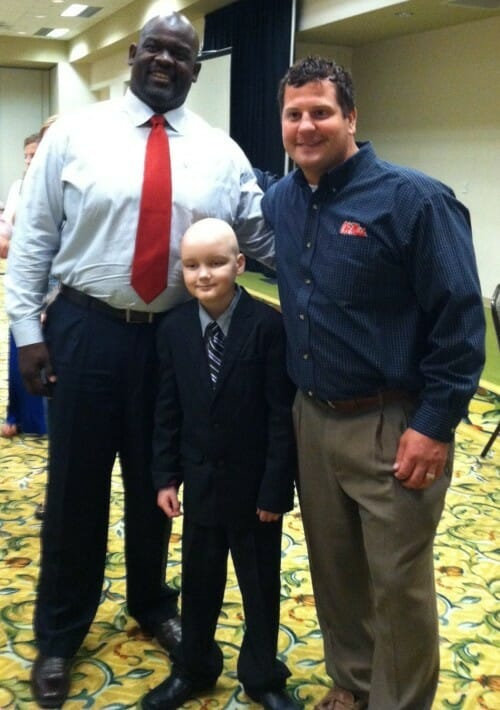 Event Co-organizers Terrence Metcalf (left) and Clay Rodgers (right) worked together to create the special evening for Chance Tetrick (center). Photo courtesy of Evelyn VanPelt