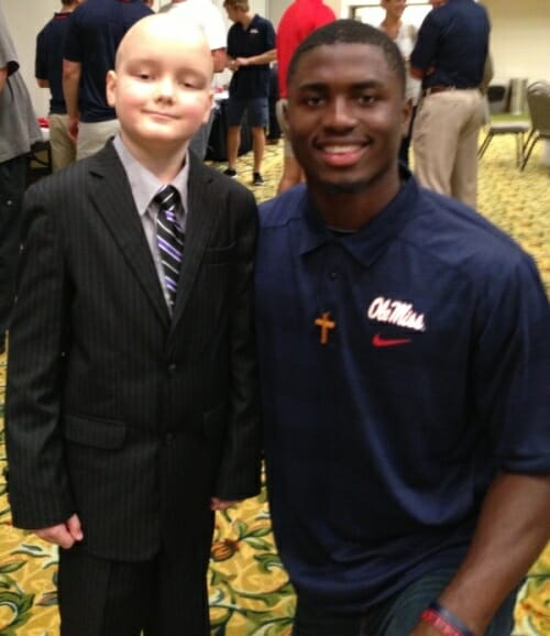 Ole Miss wide receiver Laquon Treadwell showed his support for Chance. Photo courtesy of Evelyn VanPelt