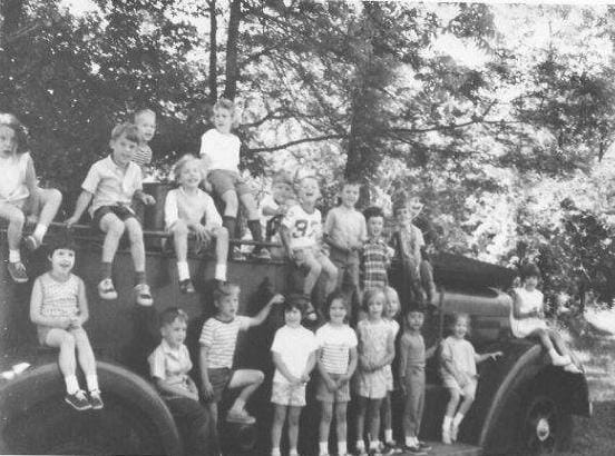 The old fire engine that holds memories for every Avent's Park kid of the 60's and 70's - May '68, last day of school picnic for First Presbyterian Church Kindergarten - Photo from Corey Crowder