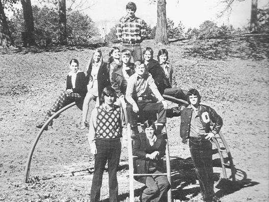 One time Bramlett Elementary kids pose at the park for Oxford High annual photos