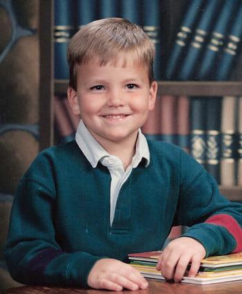 CJ in elementary school