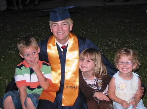 CJ at his graduation