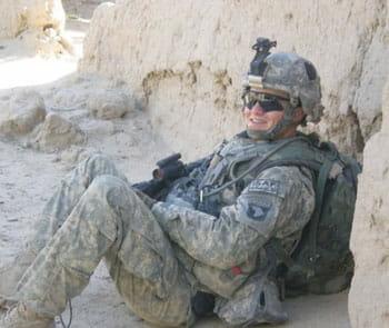 CJ serving in Afghanistan