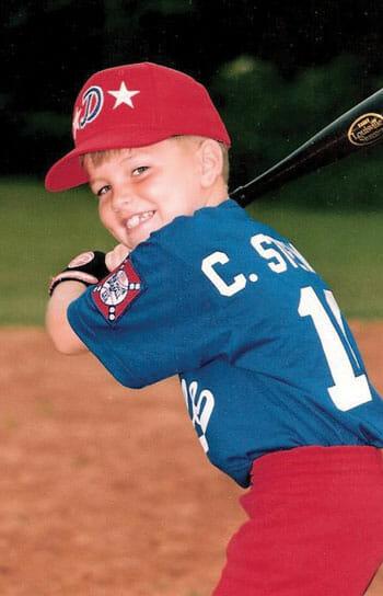 CJ played youth baseball