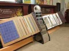 Just a few of the carpet samples available at Stout's Carpet & Flooring.