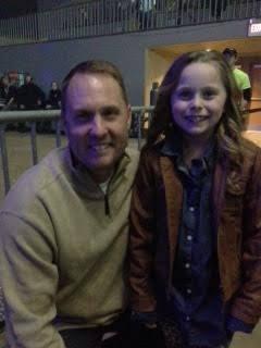 Coach Hugh Freeze and daughter Anna Claire at the Florida-Georgia Line concert. /Photo courtesy of Coach Freeze