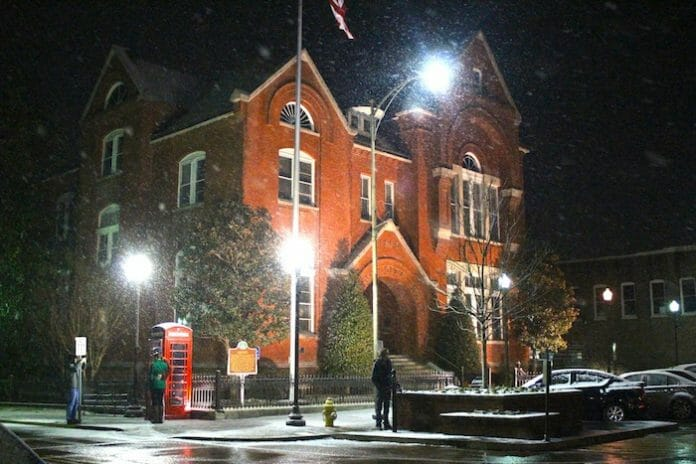 The City Hall on last year's snowfall (dated February 11, 2014)