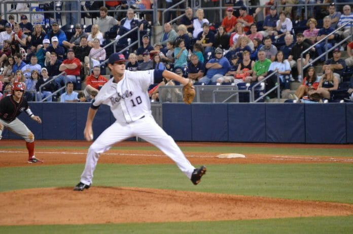 Chris Ellis on the mound.