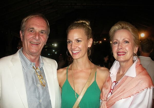 "Bruce Blackman with daughter Sarah and wife Peggy, the muse of ""Moonlight Feels Right."""