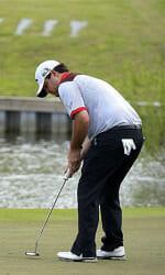 Former All-American Jonathan Randolph earned his PGA Tour card Sunday.