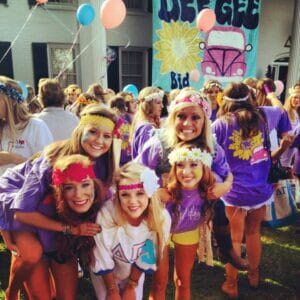 Sorority members form small families on campus, supporting each other at their new home away from home.