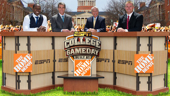 The College GameDay set