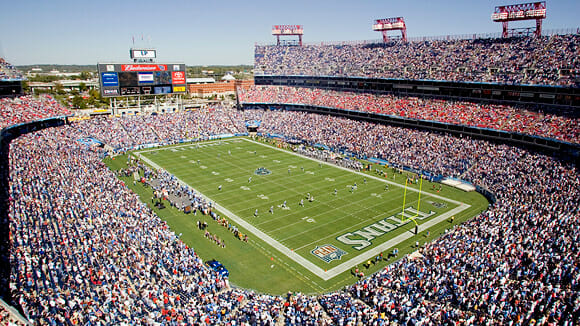 LP Field host the Ole Miss and Vanderbilt game.  Photo courtesy of espn.com