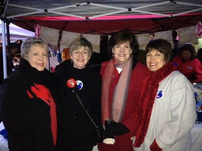 (from left) Amy McMahan, Suzanne Hickox, Frances Permenter Smith, and Walterine Odom