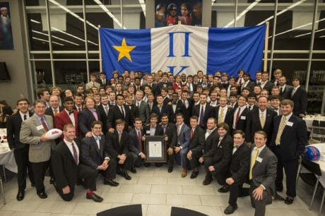 Newly chartered Pi Kappa Phi at the banquet on Oct. 11th.  (photo credit: Phillip Waller)