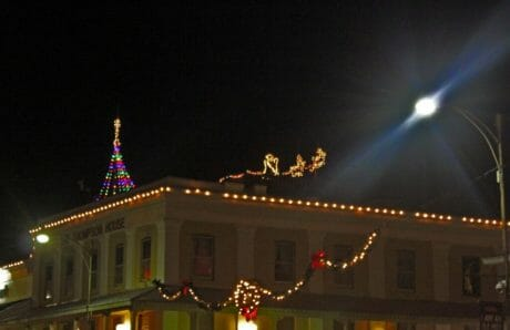Thompson House could make a good landing spot for Santa Claus...
