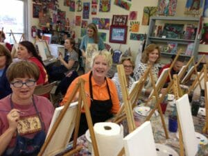 newcomers painting party1