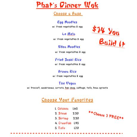 Mr. Phat menu
