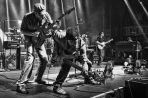 Umphrey's McGee Photo - Photograph by Chad Smith - Black and White Live Shot