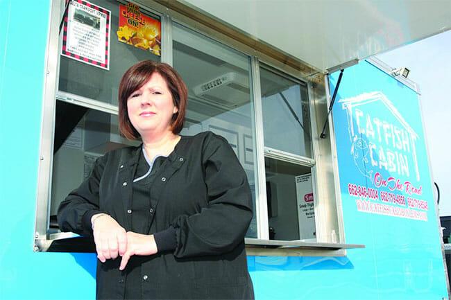 Tara Herrin and the new food truck Photo courtesy Courtney Dean