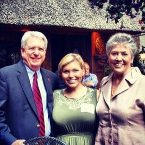 Former editor Alex McDaniel with Dan and Lydia Jones
