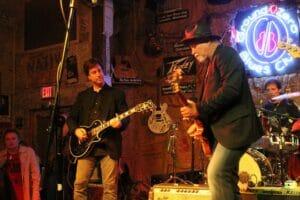 Scott Coopwood $ Derek St. Holmes playing at Ground Zero Blues Club