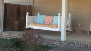 Porch swing by Stan and Pam Pernell, courtesy via Oxford Flea