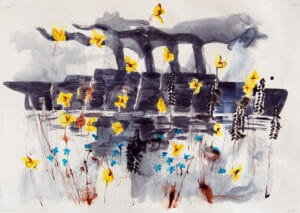 ship and flowers - buttercups