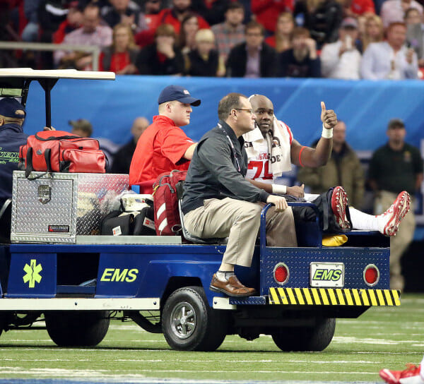 Photo taken at the Peach Bowl, courtesy of Ole Miss Athletics