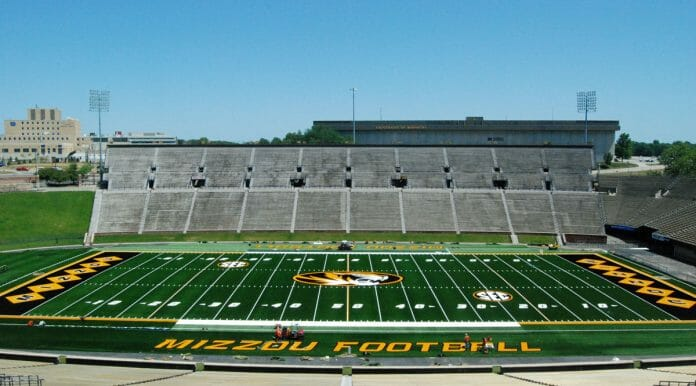 Faurot field home of the Missouri Tigers. Photo courtesy en.wikipedia.org
