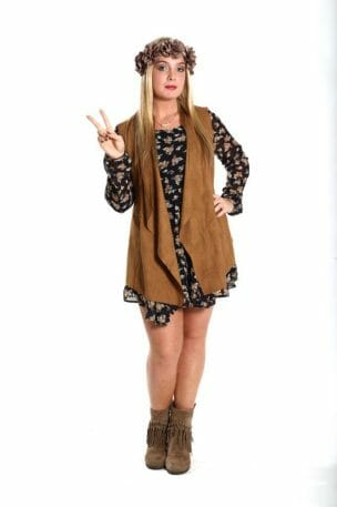 Suede vest from Miss Behavin. Located at 107 N Lamar Blvd
