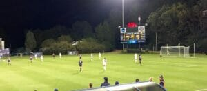 The soccer game had 1500 attendees last night, Friday Oct. 16.