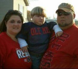 Sonya, Mason and Jim Patton of Greenville, Mississippi