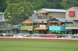 The cabins at the Neshoba County Fair.
