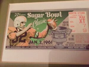 Sugar Bowl ticket from 1961