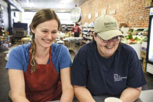 Alexe Van Beuren (left) and chef Dixie Grimes spearhead the day-to-day operation of B.T.C. Grocery in Water Valley.