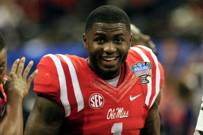 Laquon Treadwell is all smiles at the Sugar Bowl. Photo by John Bowen.