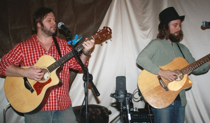 Seth Stroud and Walt Busby of the Blackwater Trio. Photo by Jeff McVay