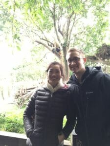 Mullen and Chen in China last December for the World Memory Championship.