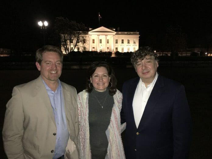 (left to right) Joel McNeese, Stephanie Patton and Jim Prince visited the White House in Washington D.C.