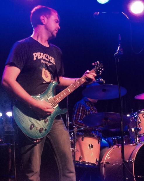Mason playing in Memphis.  Photo Courtesy of Mason Herman.