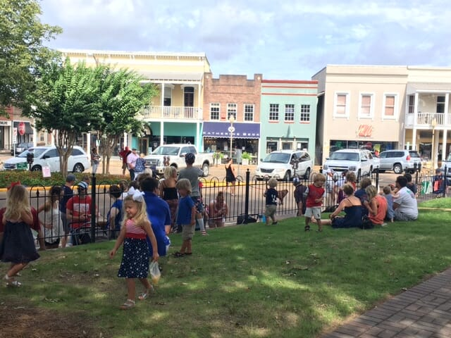 Crowds gathered on the Courthouse lawn to watch the annual parade.