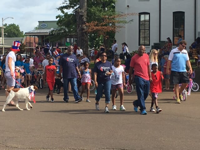 Members of Oxford First walked in the parade.