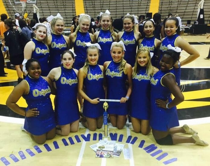 2016-2017 OHS Chargerettes (not pictured Hayden Hubbell and Sallie Hardy) Back Row (left to Right): Olivia Estes, Mary Skylar Trost, Lilly Hemmins, Mary Cook, Mary Allyn Eastland, Meena Page, Olivia Nelson Front Row (left to Right): Al'Nayiah Dean, Ann Catherine Gurner, Katherine Poole, Ellie Hinton, Madisyn Martin, Ansley Howell