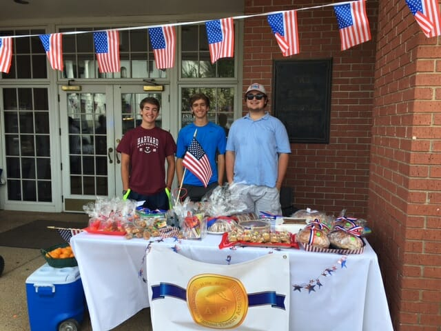 (left to right) Cole Moore, Eli Abel and Erik Sahlein - all Oxford High School students who are fundraising for OHS Theatre to join competition in Edinburgh, Scotland.