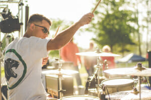 Walter photographed Pinebox this past May at Brofest in Tupelo, MS. Picture is drummer Jon Michael Walton. (Photo courtesy of Walter Lyle)